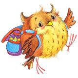 l-école-mignonne-d-école-de-bande-dessinée-badine-le-fond-d-éducation-watercolorwatercolor-animal-mignon-55361887